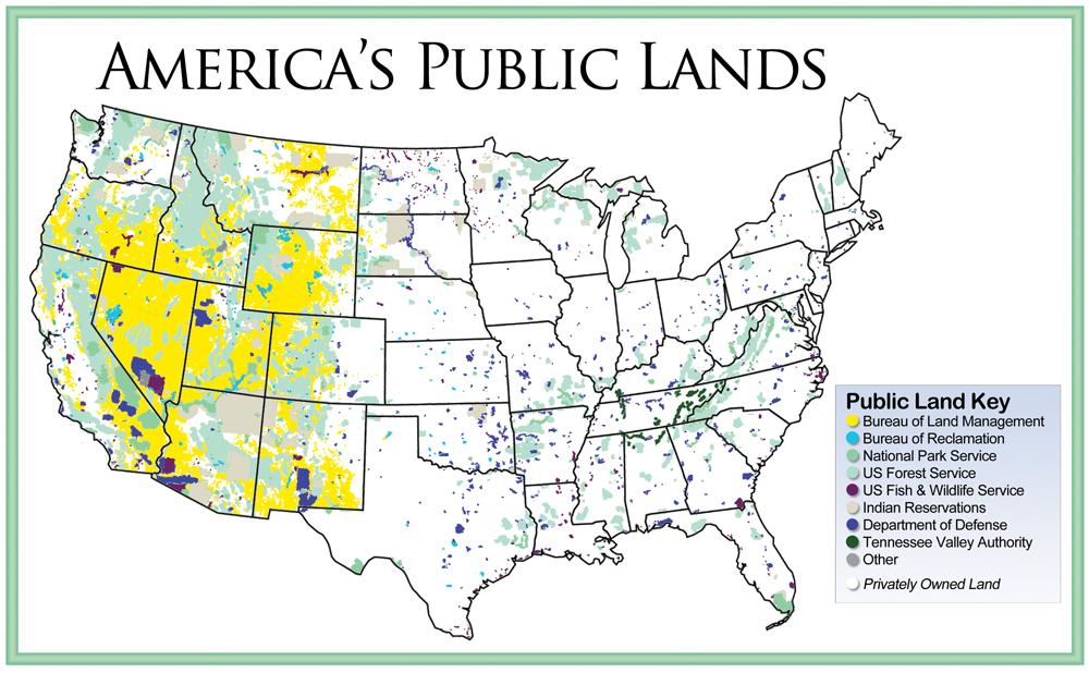 Montanas Land War Montana Fitness Magazine - Publi lands map us